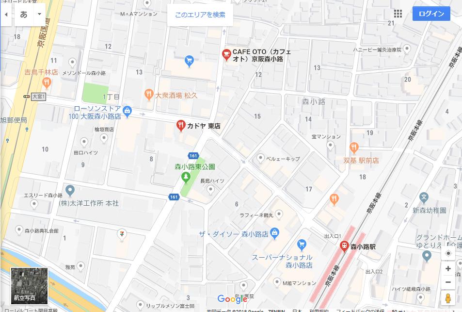 森小路商店街地図