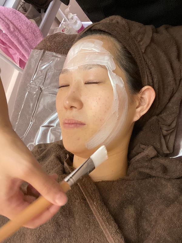 smiley、野江、お顔剃り、ビタミンCマスク