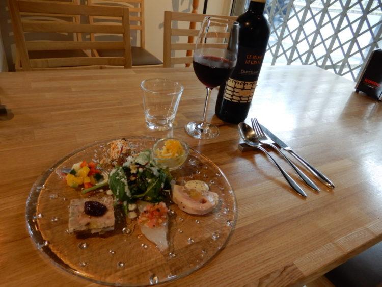 ワインと前菜