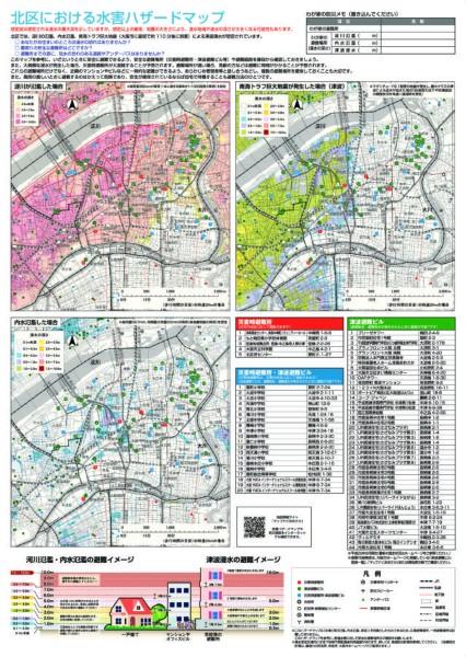 大阪市北区 水害ハザードマップ