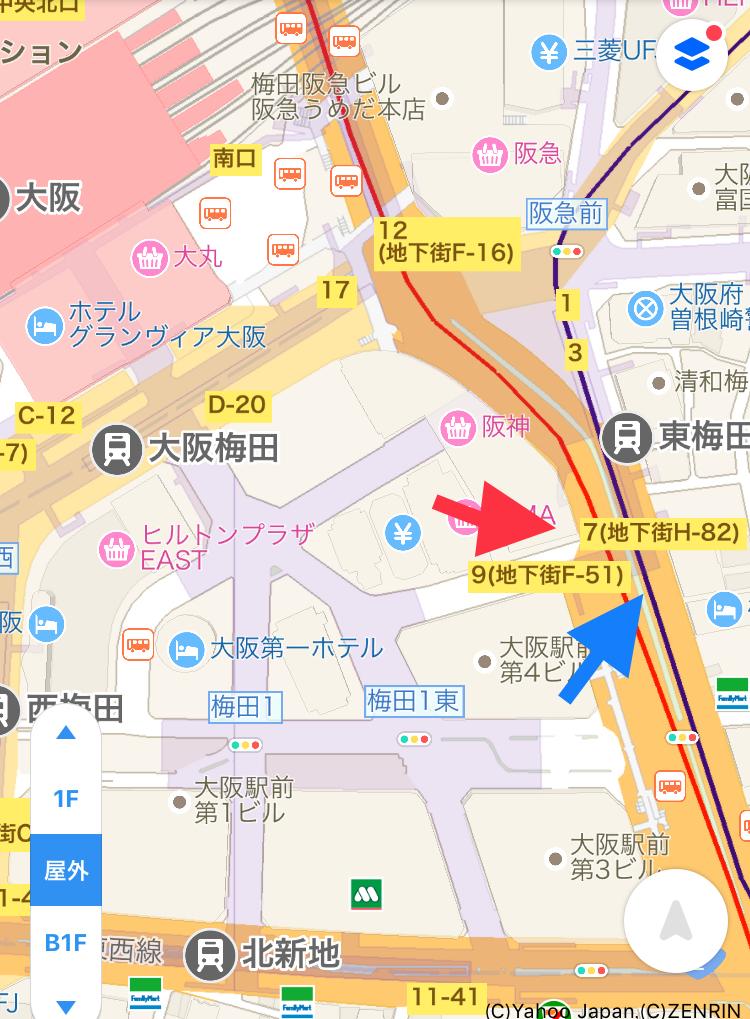 梅田マップ