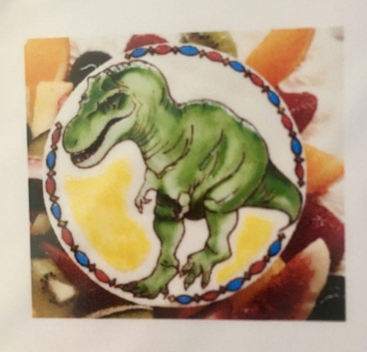 ラフェーヴ、ケーキ、イラスト、恐竜