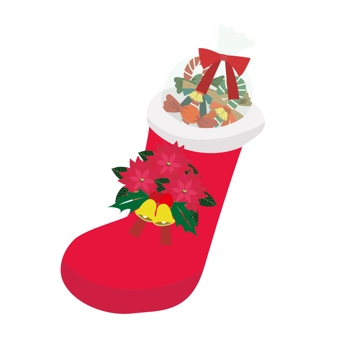 クリスマス、サンタ、ブーツ