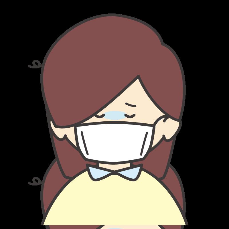 風邪をひいた女の子